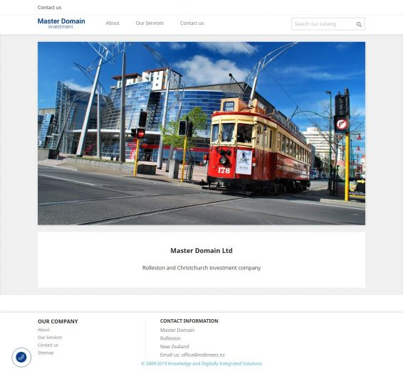 Rolleston e Christchurch sociedade de investimento - site criado no web-studio webPCstudio