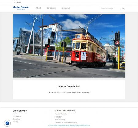 Rolleston and Christchurch investment company - сайт создан в веб-студии webPCstudio