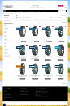 Truck and agricultural tires, wheels, cameras - website created in web-studio webPCstudio